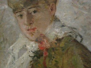Detail of Winter (Woman with a Muff) by Berthe Morisot 1880