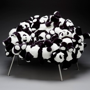 Banquete chair with pandas, designed 2006, Fernando Campana and Humberto Campana, Dallas Museum of Art, DMA/amfAR Benefit Auction Fund