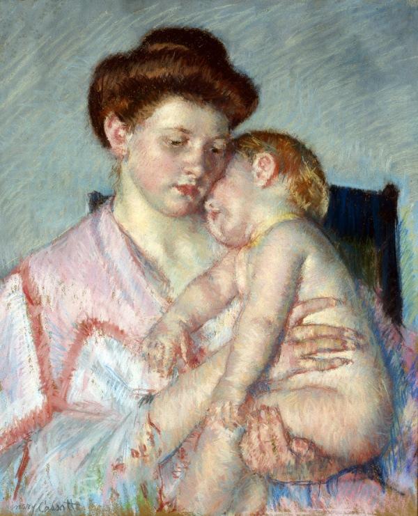 Sleepy Baby, Mary Cassatt, c. 1910, Dallas Museum of Art Munger Fund, 1952.38.M