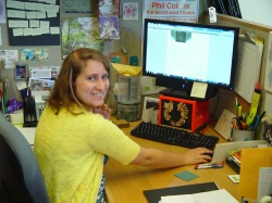 Teaching Programs Summer Intern, Leala Rosen, hard at work!