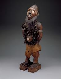 The Standing Power Figure (Nkisi Nkondi), Late 19th to Early 20th Century, Dallas Museum of Art, Foundation for the Arts Collection, Gift of the McDermott Foundation