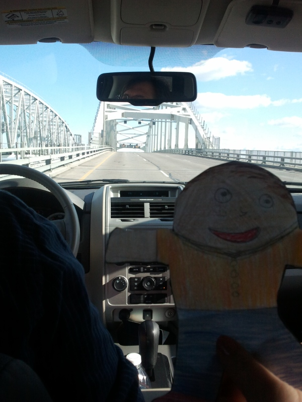 Crossing the Blue Water Bridge from Michigan into Canada