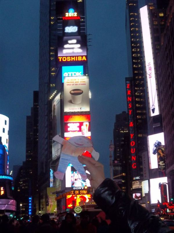 Flat Stanley in Times Square