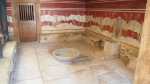 Throne Room with reconstructed Griffin Fresco and original throne, Knossos