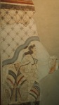 Fresco from the House of the Ladies in Akrotiri, Prehistoric Museum of Thera, Fira
