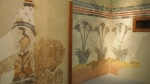 Frescoes from the House of the Ladies in Akrotiri, Museum of Prehistoric Thera, Fira