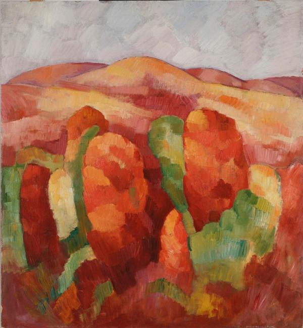 Marsden Hartley, Mountains, no. 19, 1930, Dallas Museum of Art, The Eugene and Margaret McDermott Art Fund, Inc.