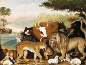 Edward Hicks, The Peaceable Kingdom, 1846-1847, Dallas Museum of Art, The Art Museum League Fund