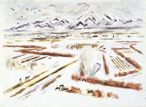 John Ward Lockwood, Magic of the Snow, 1945-1946, Dallas Museum of Art, Lida Hooe Memorial Fund.