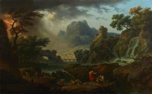 Claude-Joseph Vernet, A Mountain Landscape with an Approaching Storm, 1775, Dallas Museum of Art, Foundation for the Arts Collection, Mrs. John B. O'Hara Fund