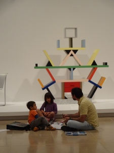 Playing a game in the galleries