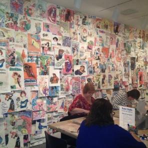 Halfway through the exhibition