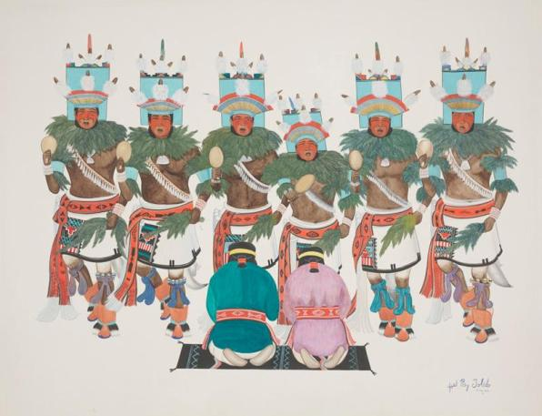 Jose Rey Toledo, Harvest Dance, Dallas Museum of Art, gift of the New Mexico Federal Art Project (W.P.A)