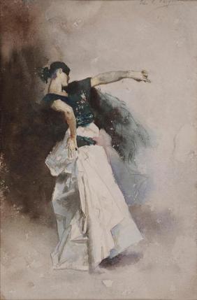 "John Singer Sargent, Study for ""The Spanish Dancer"", 1882, Dallas Museum of Art, Foundation for the Arts Collection, gift of Margaret J. and George V. Charlton in memory of Eugene McDermott"