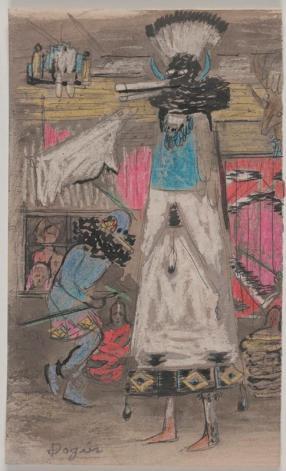 Otis Dozier, Shalako Snake Dance, Dallas Museum of Art, gift of The Dozier Foundation