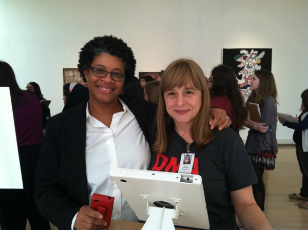 Shay Youngblood and Susan Diachisin, on Shay's first day as Writer-in-Residence