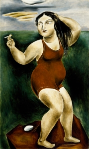 Yasuo Kuniyoshi, Bather with Cigarette, 1924, Dallas Museum of Art, Dallas Art Association Purchase Fund, Deaccession Funds/City of Dallas (by exchange) in honor of Dr. Steven A. Nash.