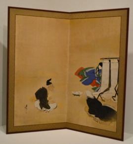 Tale of the Bamboo Cutter, 1807-1891, Shibata Zeshin, 57 1/4 x 59 in. (145.41 x 149.86 cm), Ink, color, and gold on paper, Dallas Museum of Art, gift of Margaret J. and George V. Charlton, 1970.15