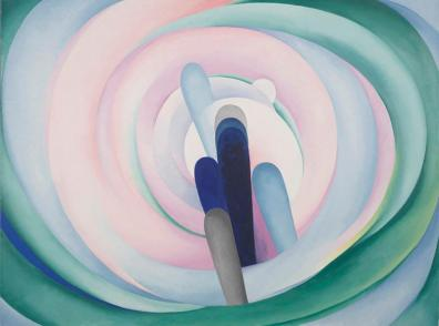 Georgia O'Keeffe, Grey Blue & Black—Pink Circle, 1929, Dallas Museum of Art, gift of The Georgia O'Keeffe Foundation