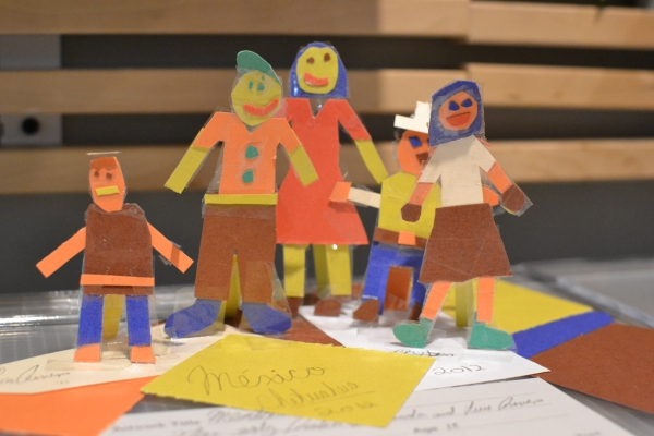 Visitors created family portraits inspired by a work of art in C3.