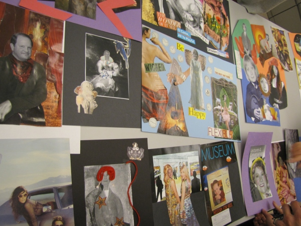 Collage workshop with guest artist Margaret Meehan.