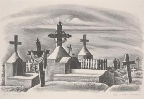 Jerry Bywaters, Mexican Graveyard, 1939