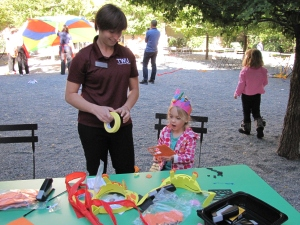 TWU Occupational Therapy student Ana Antonetti volunteering at our recent Autism Awareness Family Celebration