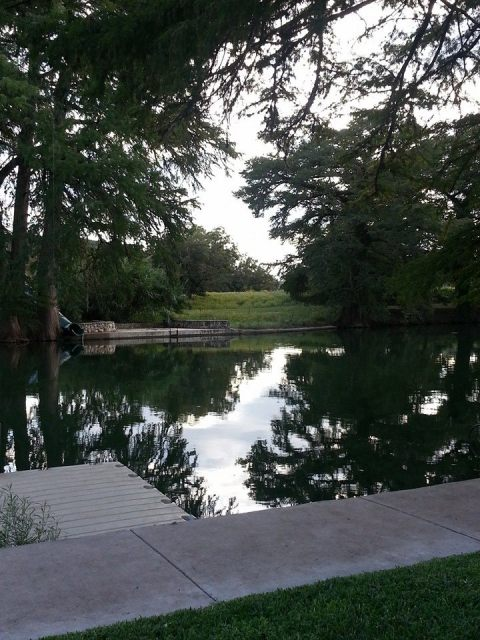 The Guadalupe River runs through Camp Waldemar.