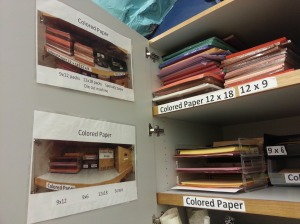 Label your cabinets!