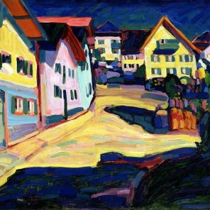 """Murnau, Burggrabenstrasse 1, 1908,"" Wassily Kandinsky, 1908"