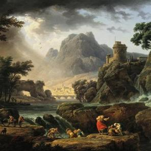 """A Mountain Landscape with Approaching Storm,"" Claude-Joseph Vernet, 1775"