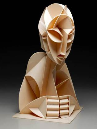 Naum Gabo, Constructed Head No. 2, 1923-1924