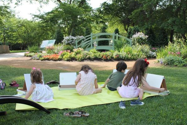 Painting like Monet at the Arboretum