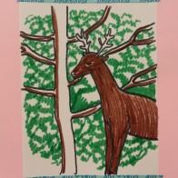 deer art activity