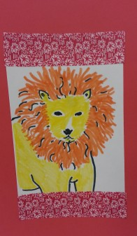 lion art activity