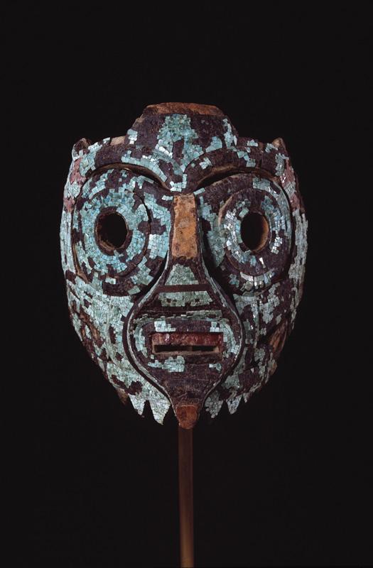 North America, Mexico, Mixtec-Aztec culture, Mask, possibly of Tlaloc, c. 1350-1521, Dallas Museum of Art, The Roberta Coke Camp Fund