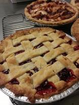 cherry & apple-cranberry pies