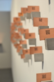 Copper plates (reverse side) with QR codes