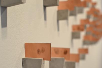 Copper plates with fingerprints