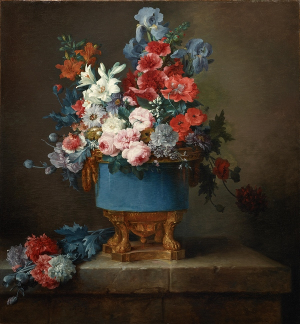 Bouquet of Flowers in a Blue Porcelain Vase (1776), Anne Vallayer-Coster