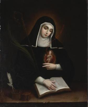 Miguel Cabrera, Saint Gertrude (Santa Gertrudis), 1763, Dallas Museum of Art, gift of Laura and Daniel D. Boeckman in honor of Dr. William Rudolph