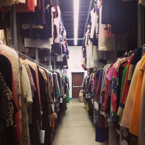 Fashion racks.
