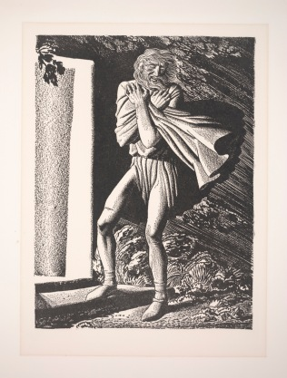 "Rockwell Kent, Blow, winds, and crack your cheeks! Rage! Blow! (Illustration reproduction for ""King Lear""), 1936, Dallas Museum of Art, gift of Mr. and Mrs. Stanley Marcus"