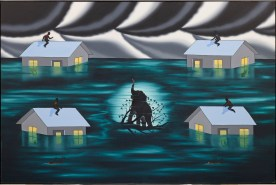 Roger Brown, The True Story of an Elephant Who Survived in a Flood, 1981, Dallas Museum of Art, anonymous gift