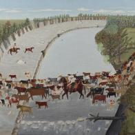 Clara McDonald Williamson, Get Along Little Dogies, 1945, Dallas Museum of Art, Ted Dealey Purchase Prize, Seventeenth Annual Dallas Allied Arts Exhibition