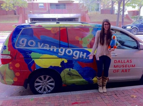 Arturo & I posing with the swanky Go van Gogh van!