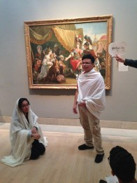 We definitely make sure to have fun in the galleries! - While visiting the European Galleries, we asked students to dress up and create a tableau inspired by a work of art.
