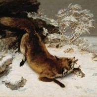 Gustave Courbet, Fox in the Snow, 1860, Dallas Museum of Art, Foundation for the Arts Collection, Mrs. John B. O'Hara Fund