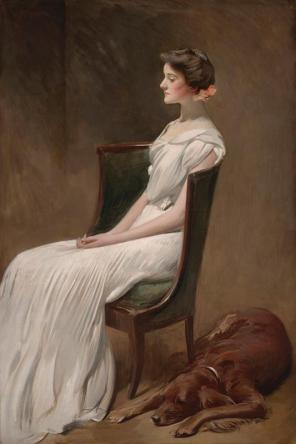 John White Alexander, Miss Dorothy Quincy Roosevelt (later Mrs. Langdon Geer), 1901-1902, Dallas Museum of Art, gift of the Pauline Allen Gill Foundation in memory of Pauline Gill Sullivan