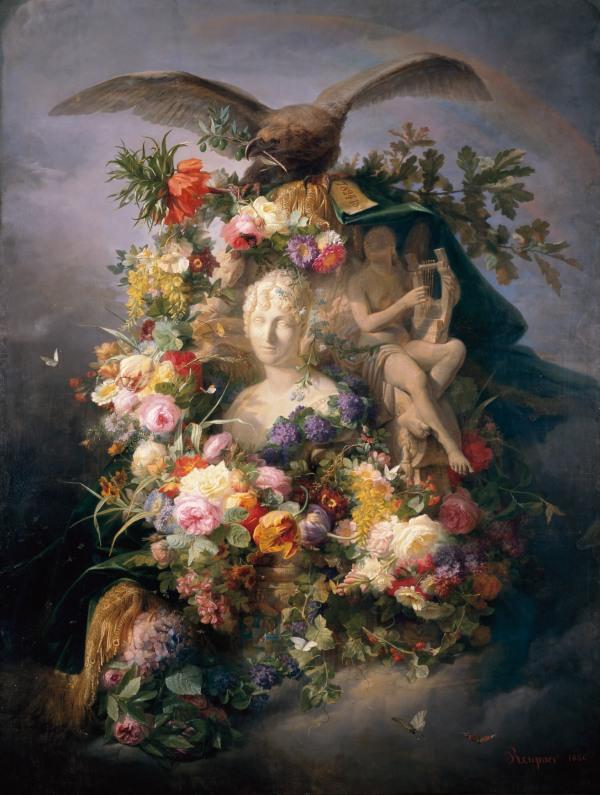 Jean Marie Reignier, Homage to Queen Hortense, 1856